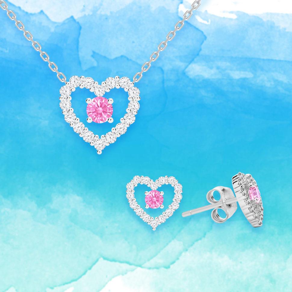 Stříbrné šperky First Love skubickou zirkonií