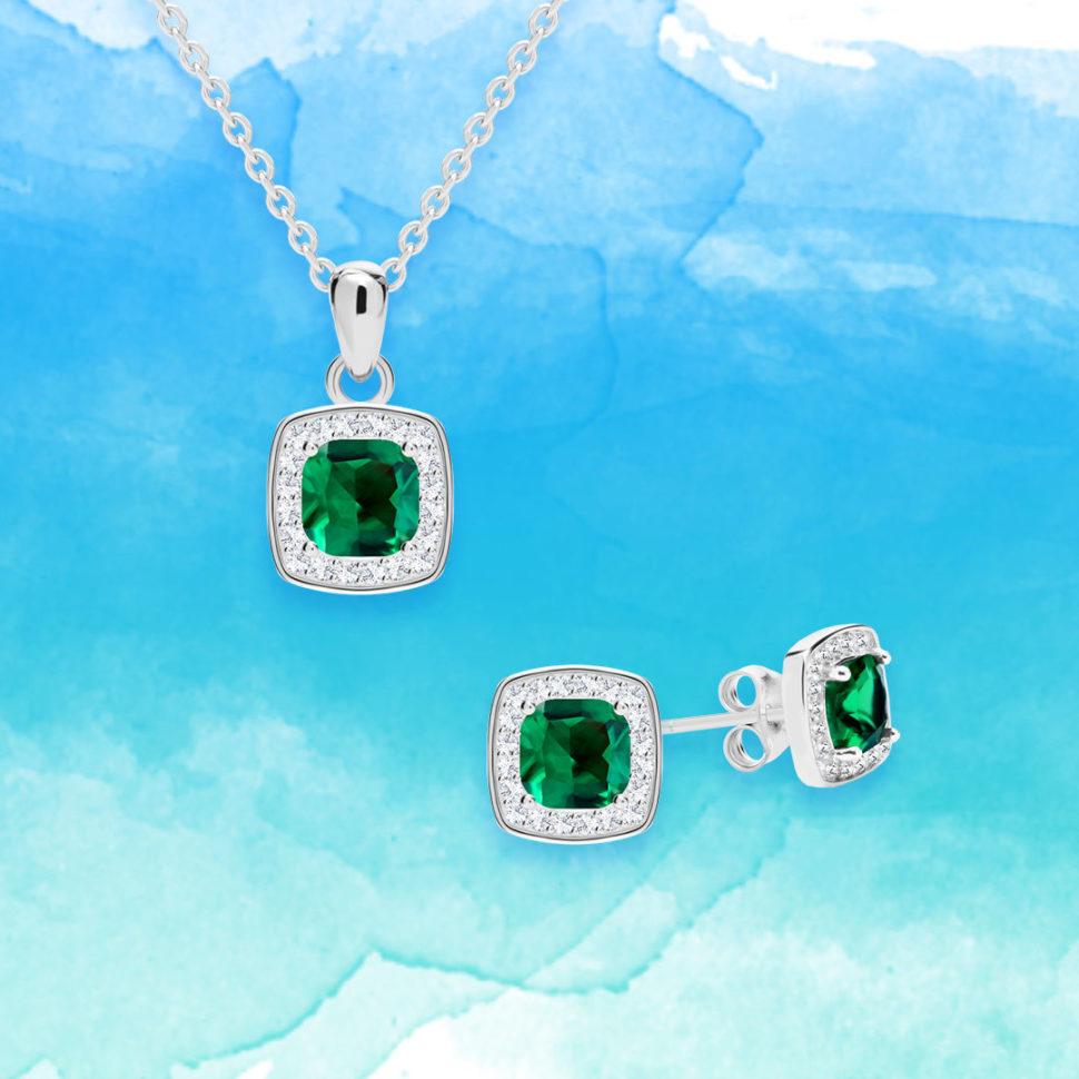 Stříbrné šperky Minas skubickou zirkonií