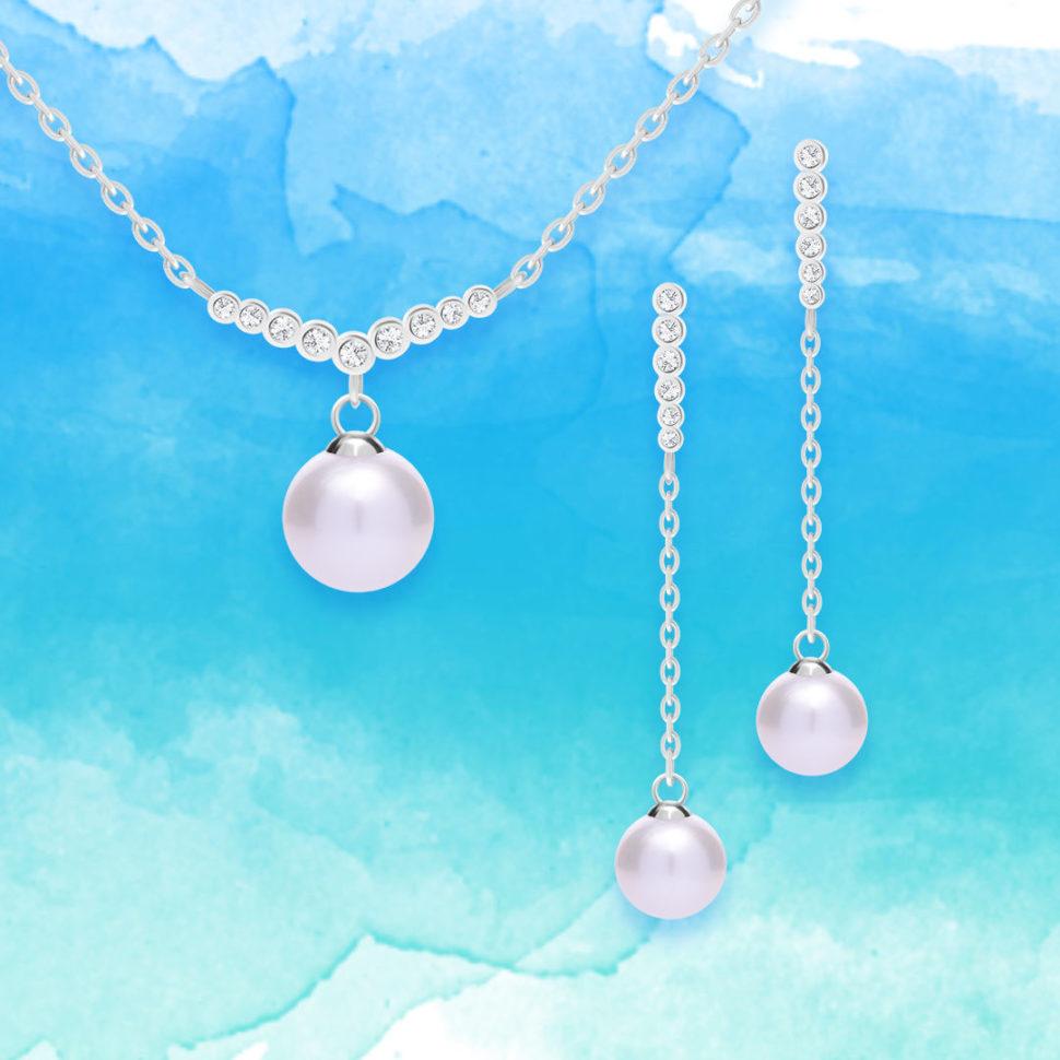 Stříbrné šperky Samoa spravými říčními perlami