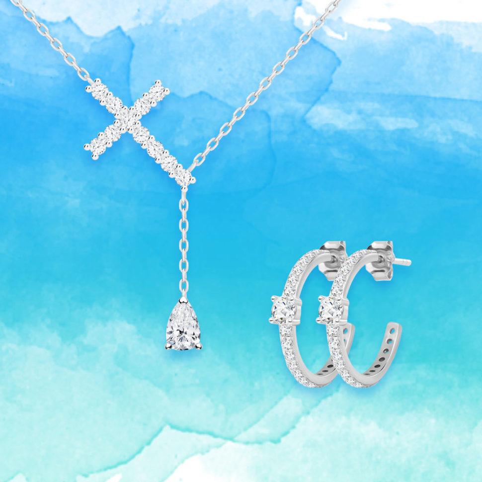 Stříbrné šperky Shiny Cross aShiny Kimberly
