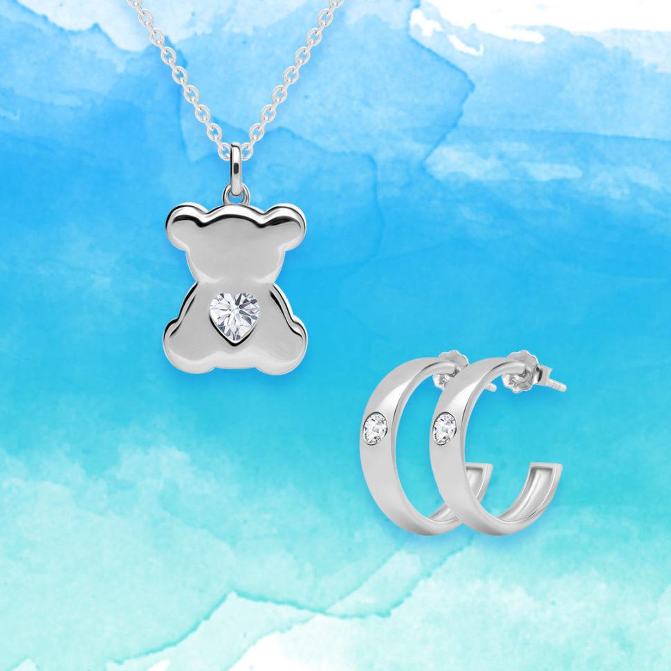 Stříbrné šperky Shiny Teddy aKimberly